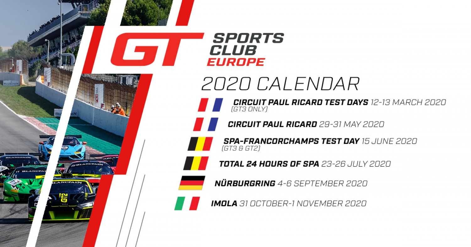 Statement from SRO Motorsports Group: Monza cancelled, Imola becomes GT Sports Club Europe final